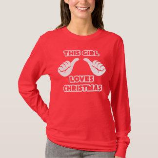 This Girl Loves Christmas Long Sleeve Shirt