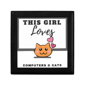 This Girl loves Computers & Cats Gift Box