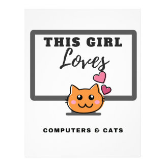 This Girl loves Computers & Cats Letterhead