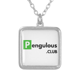 This Girl Loves Computers & Penguins Silver Plated Necklace