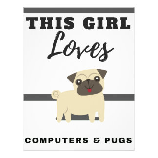 This Girl Loves Computers & Pugs Letterhead