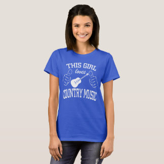 This Girl Loves Country Music Guitar T-Shirt
