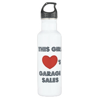 This Girl Loves Garage Sales Water Bottle