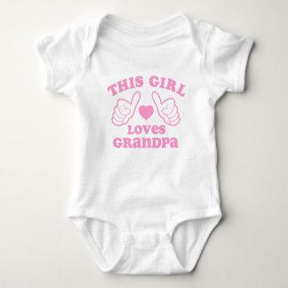 This Girl Loves Grandpa Baby Bodysuit
