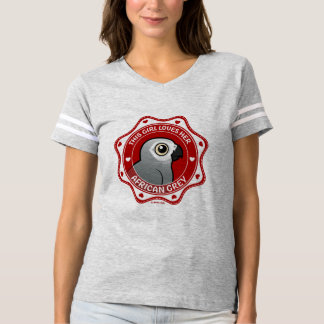 This Girl Loves Her African Grey T-shirt