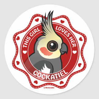 This Girl Loves Her Cockatiel Classic Round Sticker
