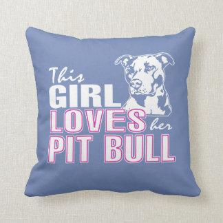 This Girl Loves Her PIT BULL Throw Pillow