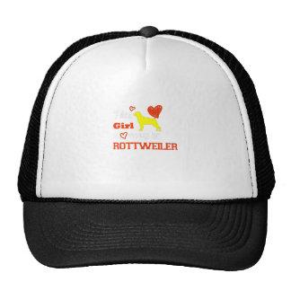 This Girl Loves Her Rottweiler Great Gift Trucker Hat