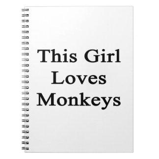 This Girl Loves Monkeys Notebook