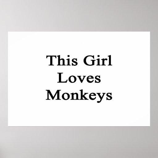 This Girl Loves Monkeys Poster