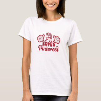 This Girl Loves Pinterest  Santa Style T-Shirt