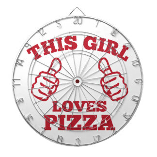 This Girl Loves Pizza Dartboard