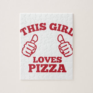 This Girl Loves Pizza Jigsaw Puzzle