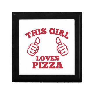 This Girl Loves Pizza Keepsake Boxes