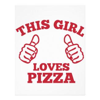 This Girl Loves Pizza Letterhead