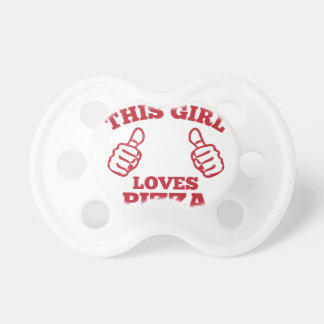 This Girl Loves Pizza Pacifiers
