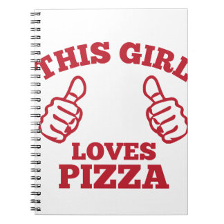 This Girl Loves Pizza Spiral Notebook
