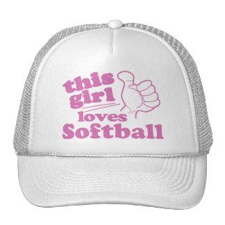 This Girl Loves Softball Hats