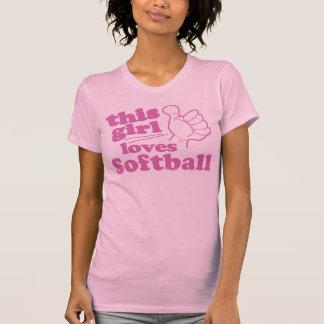 This Girl Loves Softball T-shirts