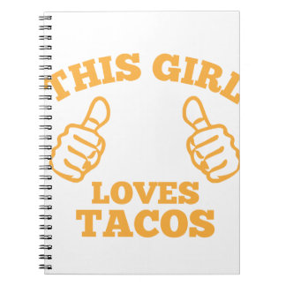 This Girl Loves Tacos Notebook