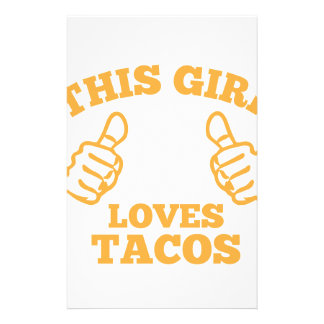 This Girl Loves Tacos Stationery