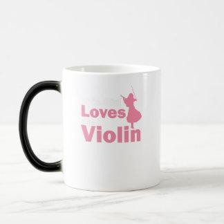 This Girl Loves The Violin Gift Magic Mug