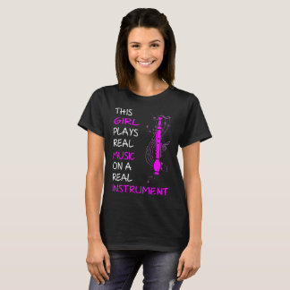 This Girl Plays Real Music Instrument Oboe Tshirt