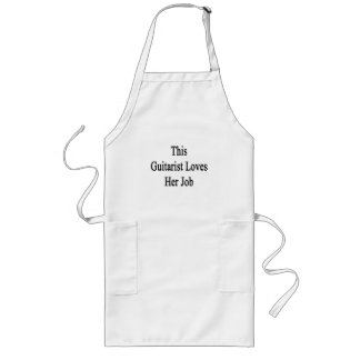 This Guitarist Loves Her Job Long Apron