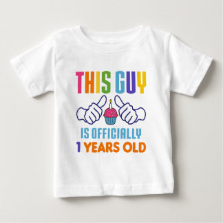 This Guy Is Officially 1 Years Old Baby T-Shirt