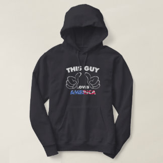 This guy loves america hoodie