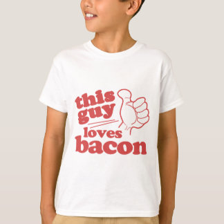 This Guy Loves Bacon T Shirt