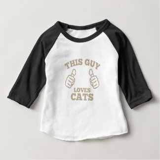 This Guy Loves Cats Baby T-Shirt