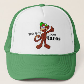 This Guy Loves Taco Hungry Monkey Trucker Hat