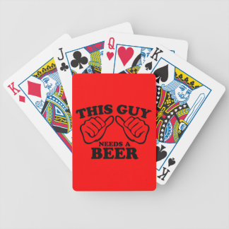 This Guy Needs a Beer Bicycle Playing Cards