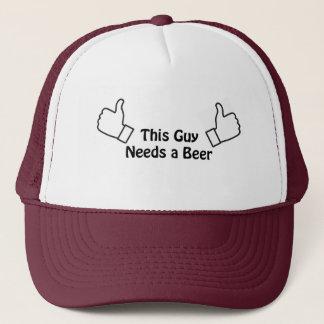 This guy needs a beer trucker hat