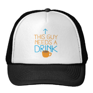 This guy needs a drink with coffee mug trucker hat