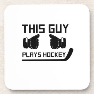 This Guy Plays Hockey Lover Funny Gifts Coaster