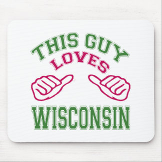 This Guys Loves Wisconsin Mousepad