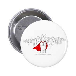 This Hare Line Won't Recede Button! 2 Inch Round Button