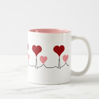 This Heartbeat is For You Two-Tone Coffee Mug