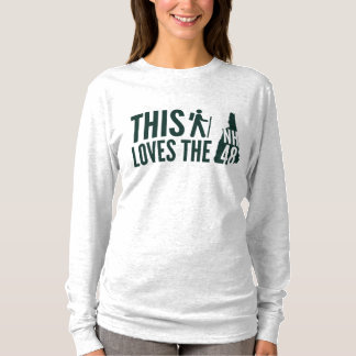 """This Hiker Loves NH48"" Women's Long Sleeve Tee"