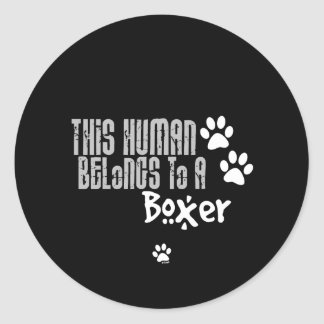 This Human Belongs to a Boxer Sticker
