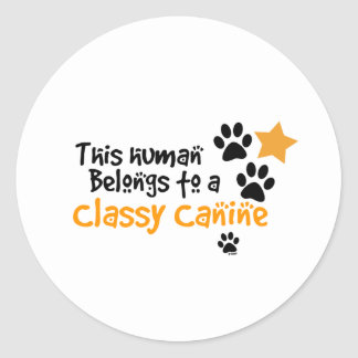 This Human Belongs to a Classy Canine Stickers
