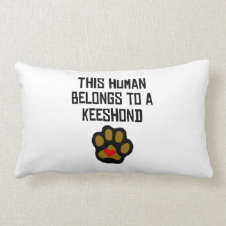 This Human Belongs To A Keeshond Pillows