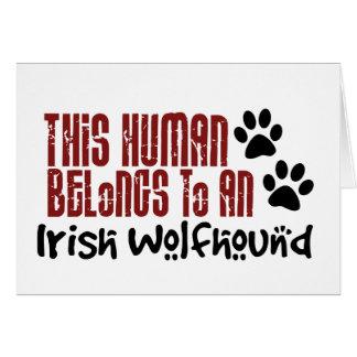 This Human Belongs to an Irish Wolfhound Card