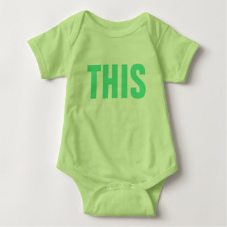 THIS Internet Slang Social Media Humor Funny Cute Baby Bodysuit