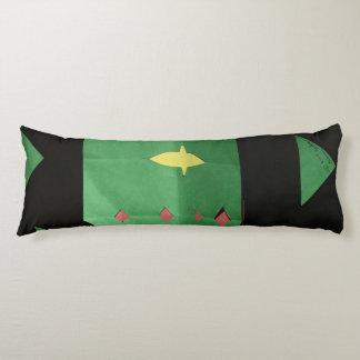 This is a Black and Green Body Pillow. Body Pillow