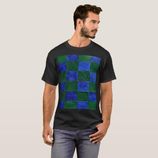 This is a Blue and Green checker T-Shirt. T-Shirt