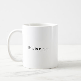 This is a cup coffee mug