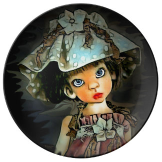 This is a doll porcelain plate by Artful O